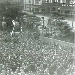 普通選挙制を要求する人々(国会前)1919 帝国書院「図説日本史通覧」P251