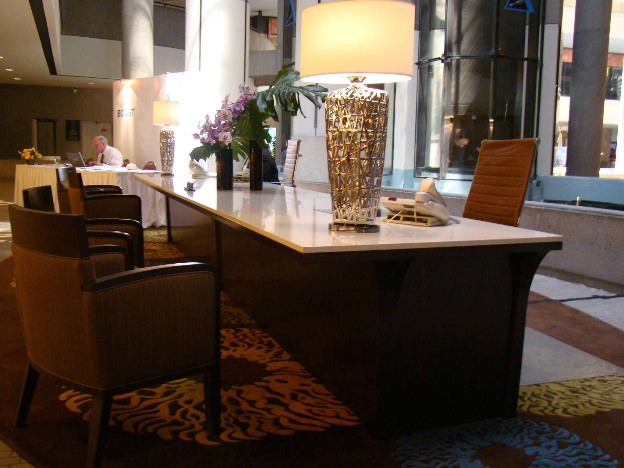 Concierge Desk in Hotel Lobby  Juhasz Furniture Design