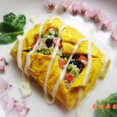 【四角蛋包飯怎么做好吃】四角蛋包飯的做法,配方,步驟圖解-食譜秀