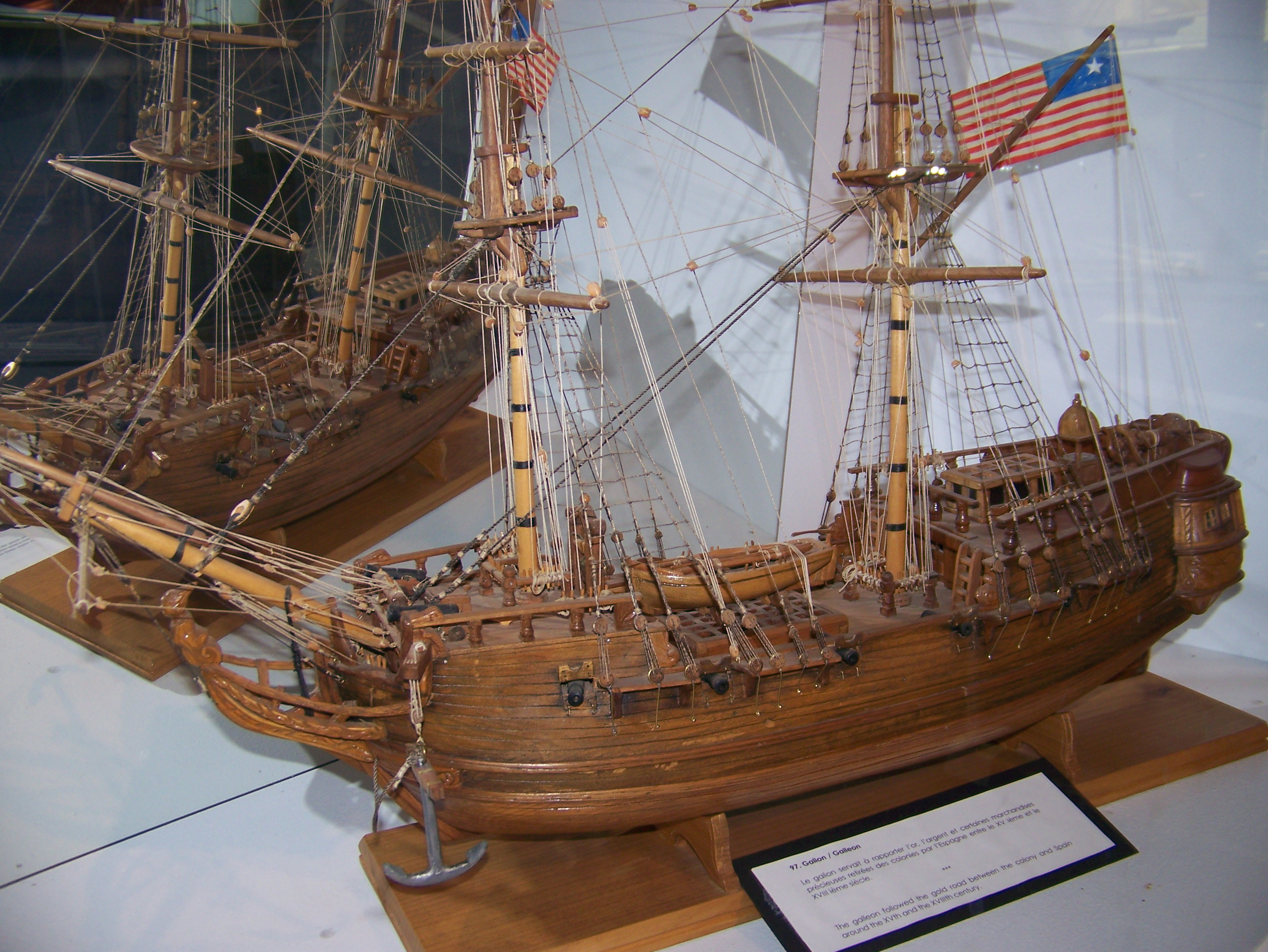 """""""The galleon followed the gold road between the colony and Spain around the XVth and XVIIIth century."""""""