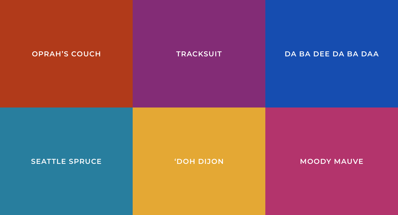 most popular colors through