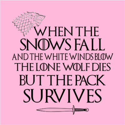 When The Snow Falls And The White Wind Blows Wallpaper Pack Survives Juicebubble T Shirts