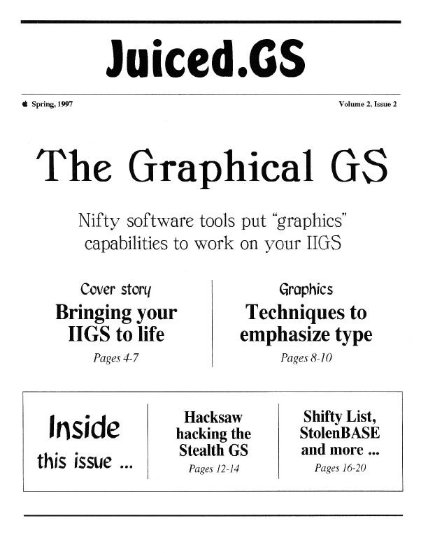 Volume 2, Issue 2 (Spring 1997)