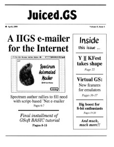 Volume 5, Issue 1 (April 2000)