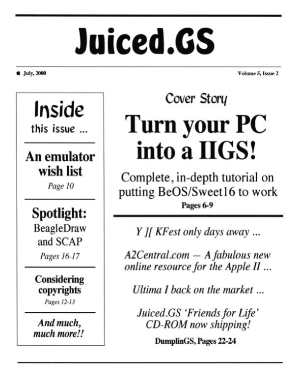 Volume 5, Issue 2 (July 2000)