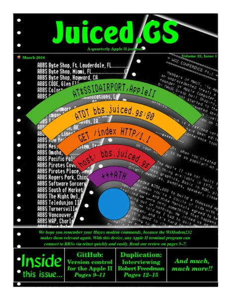 Juiced.GS Volume 23, Issue 1 (March 2018)