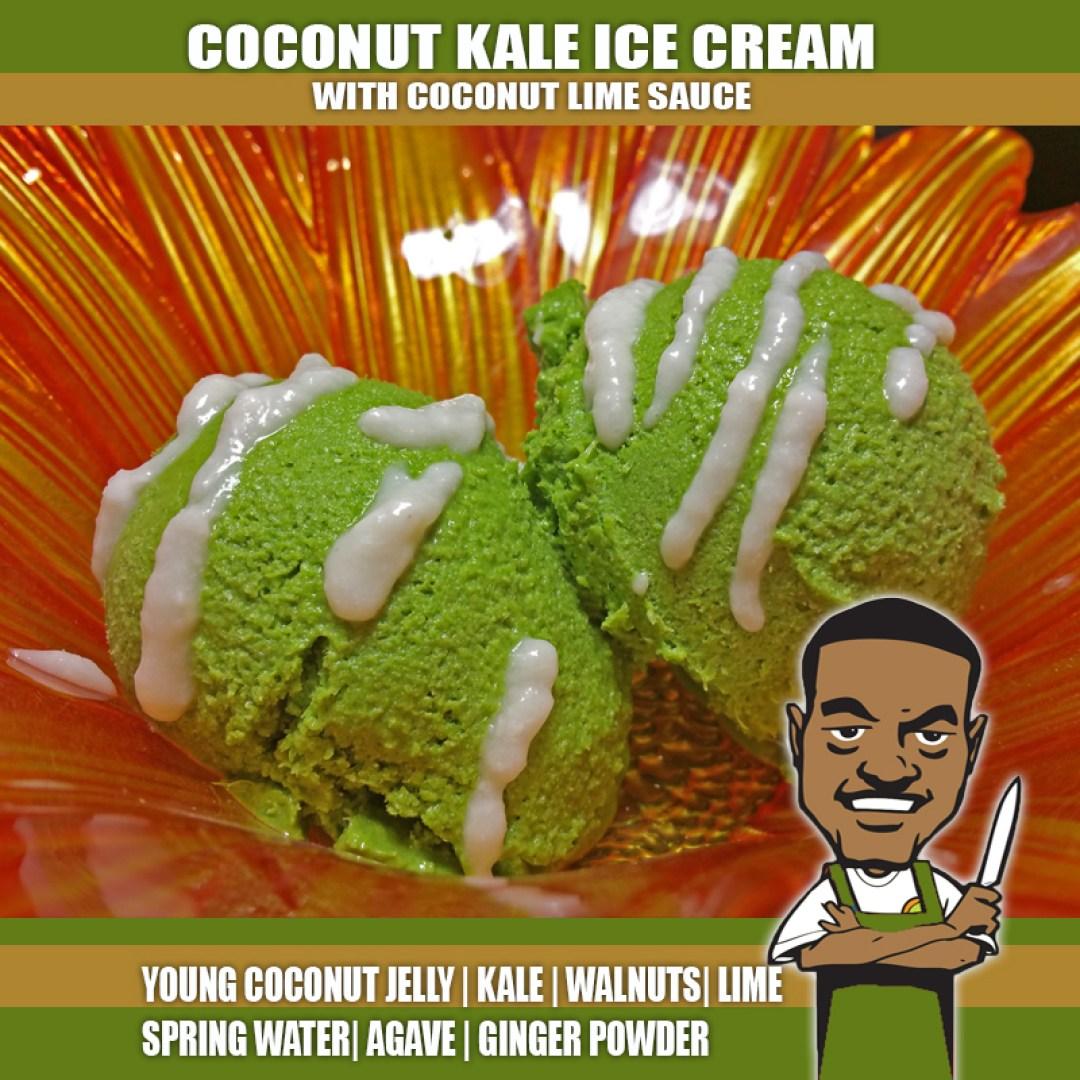 COCONUT KALE ICE CREAM