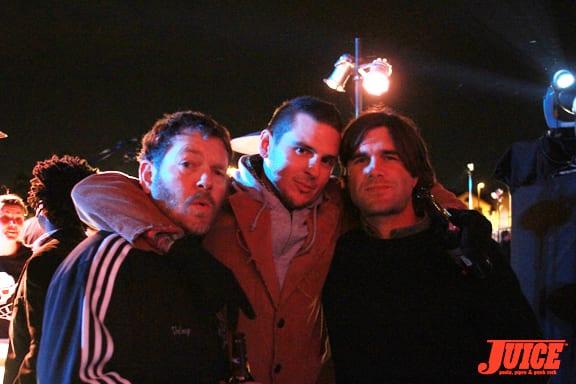 Bobby Pura and friends. Photo: Dan Levy