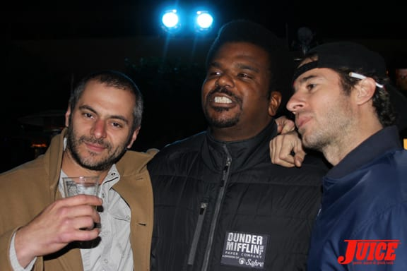 Dimitry Elyashkevich, Craig Robinson (The Office) and Mike Carroll. Photo: Dan Levy