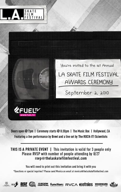 LA Skate Film Festival Invite