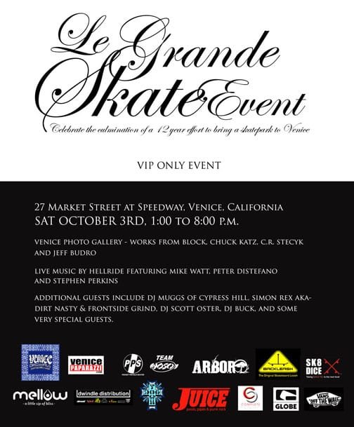 LE GRAND SKATE EVENT