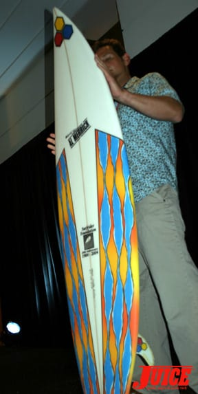 Almerrick board. Photo: Dan Levy
