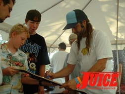 Alva signs autographs at ESS. Photo: Terri Craft