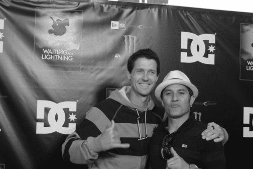 Danny Way and Christian Hosoi. Photo: Lance Lemond