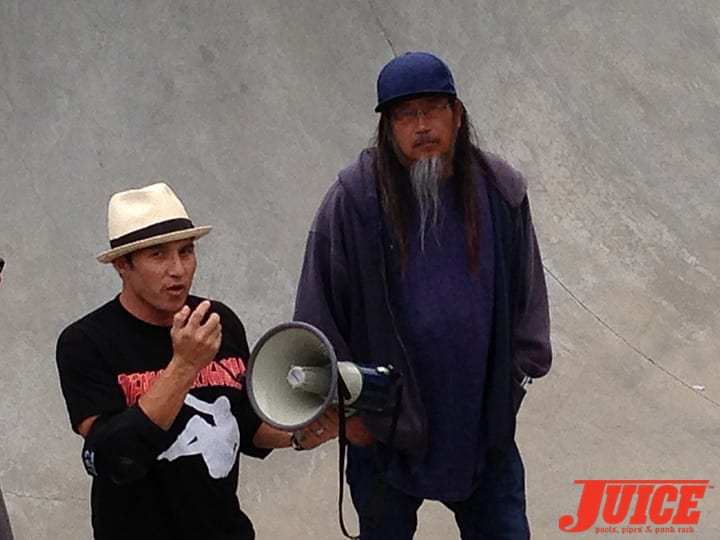 CHRISTIAN HOSOI AND JEFF HO. SHOGO KUBO MEMORIAL SKATE SESSION VENICE. PHOTO BY TERRI CRAFT