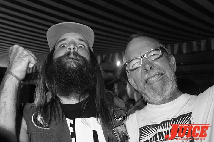 JEFF MURRAY (THE SHRINE) AND CHUCK DUKOWSKI. PHOTO BY DAN LEVY