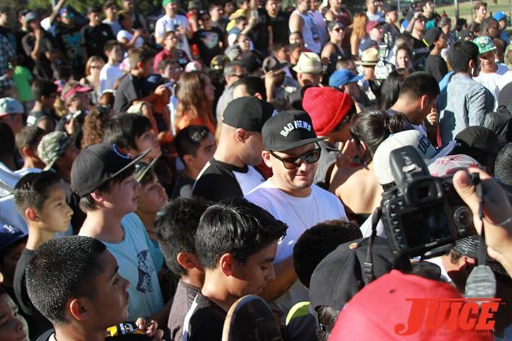 Nick Diamond at Diamond Skate Plaza Opening Day 2014. Photo by Dan Levy.