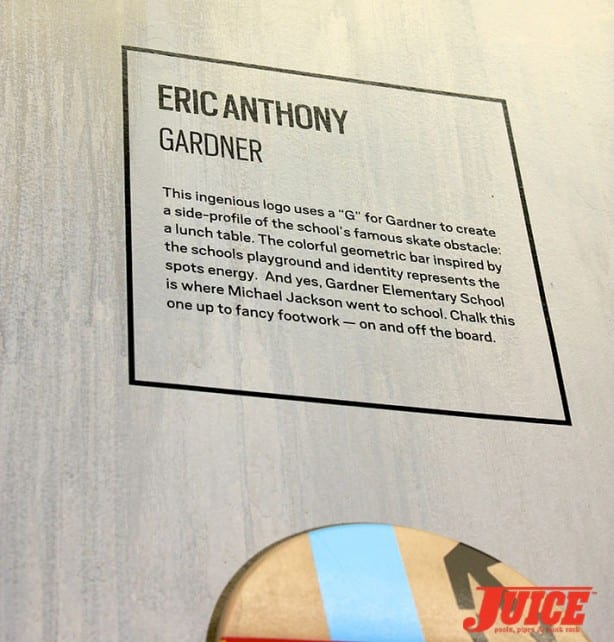 Eric Anthony skate art graphic tribute to the Gardner. Photo by Vans Davey