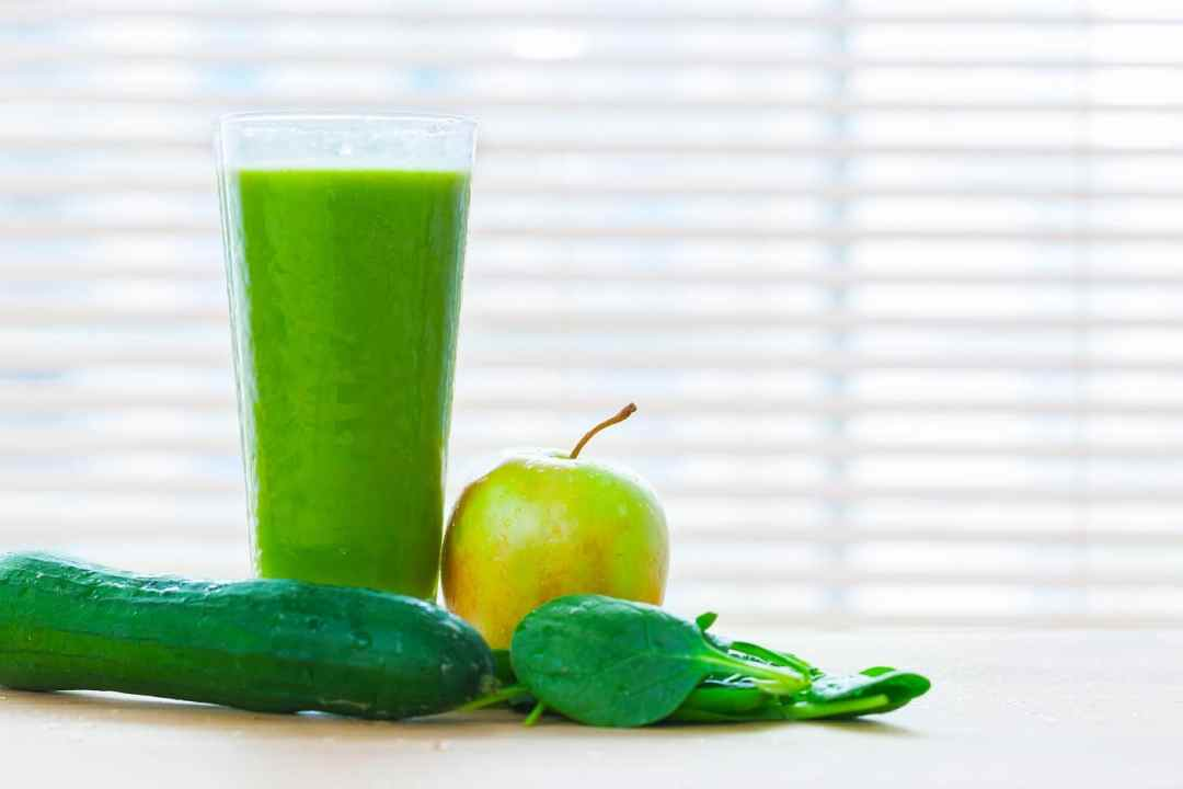 Fresh juice Recipe from green vegetables and fruits. Healthy vitamin drink.