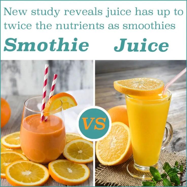 Smoothie vs Juice new