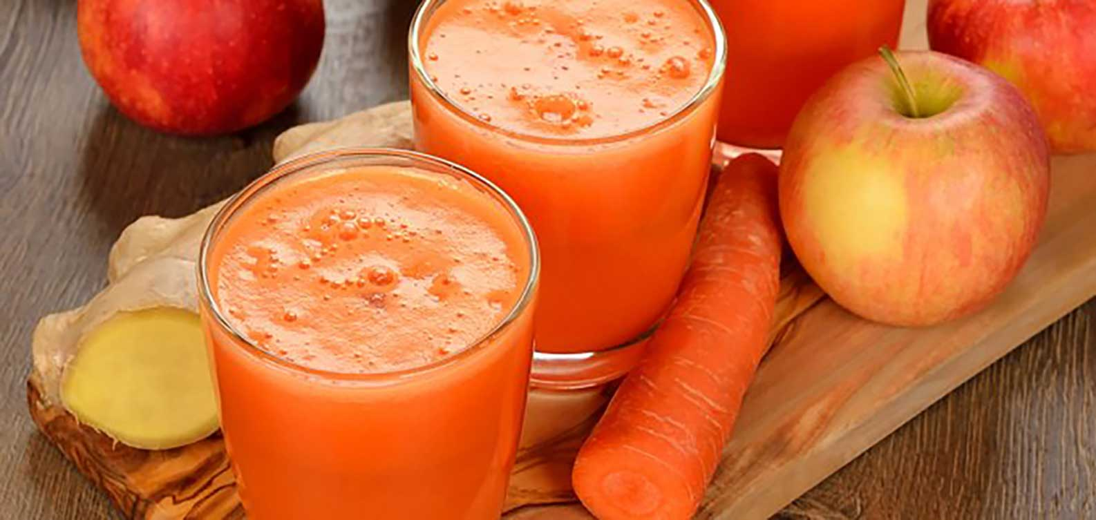 carrot, apple and ginger juice, Recipe, Juicer Portal