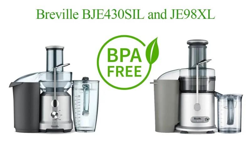 Breville BJE430SIL Vs Breville JE98XL BPA Free
