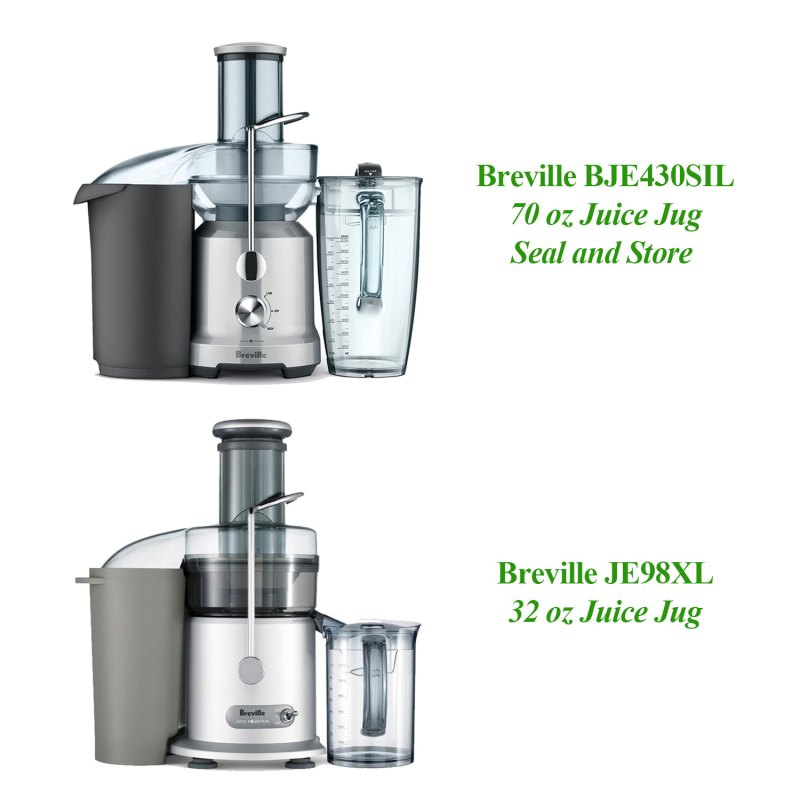 Breville BJE430SIL Vs Breville JE98XL Juice Jug