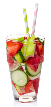 Cucumber Strawberry Apple Infused Water