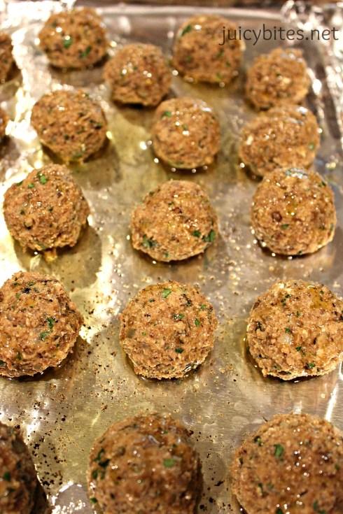 lentil meatballs pan