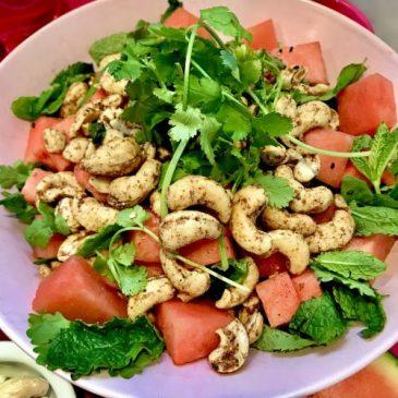 Juicy's Watermelon & Cashew Salad