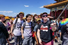 With members of the Cleveland Orchestra Youth Orchestra at the Forbidden City in Beijing while on a concert tour of China, summer 2015