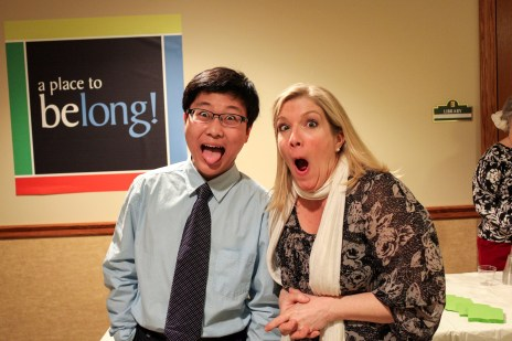 Jieming with his chamber coach, Annie Fullard of the Cavani String Quartet, after a chamber music outreach recital.
