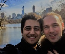 At central park with Christian De Luca-fellow pianist at J.