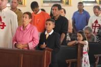Gabriel durante a Missa 1