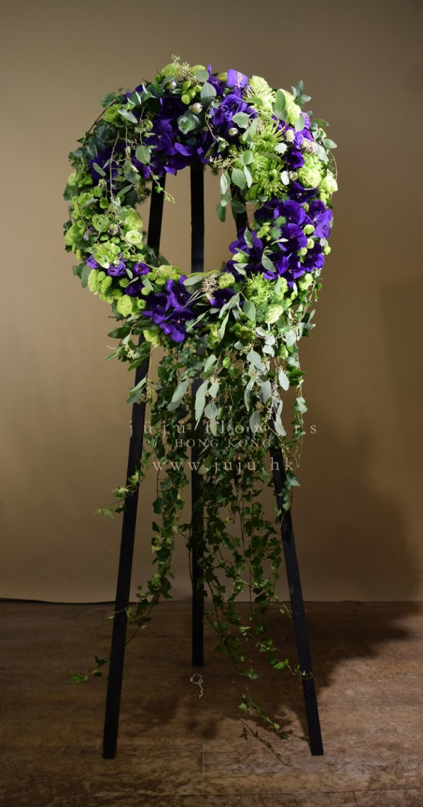 Lime and Purple WreathW