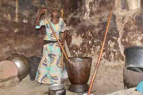 Fulani girl mixing Kuli Kuli paste in Langa Langa Village, Nasarawa State, Nigeria. #JujuFilms