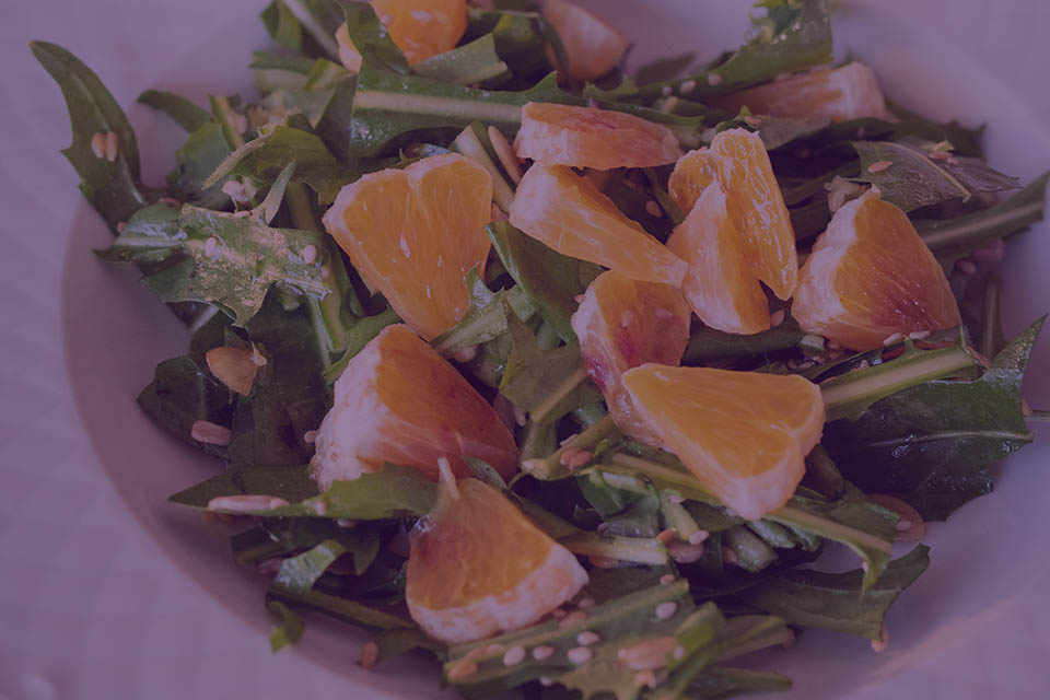 Arugula Ginger Citrus Salad - Julian Marley JuJu Royal