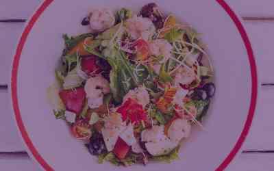 Ginger Honey Shrimp Salad