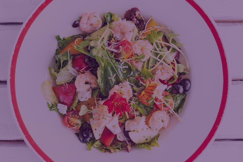 Ginger Honey Shrimp Salad - Julian Marley JuJu Royal