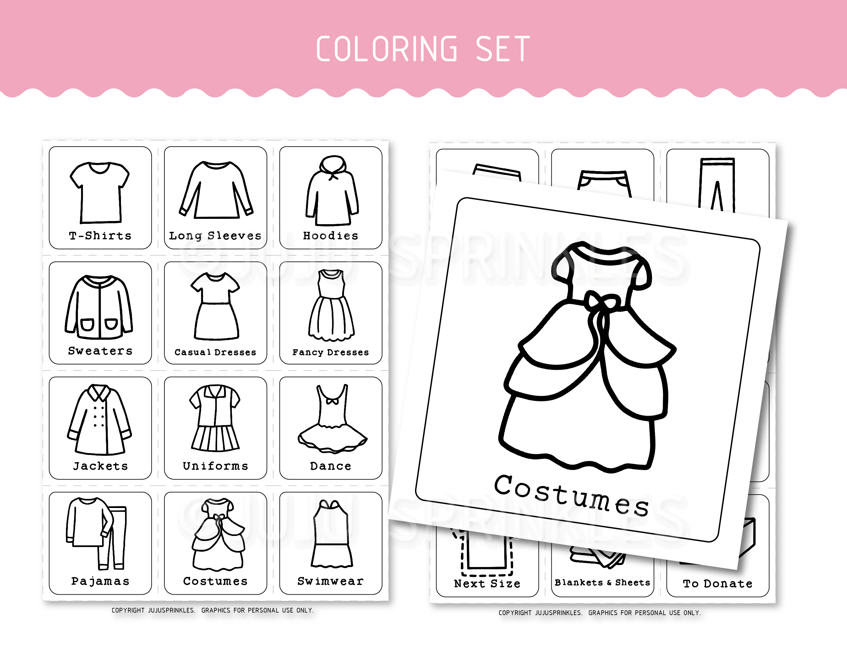 Sweet Printable Clothing Labels
