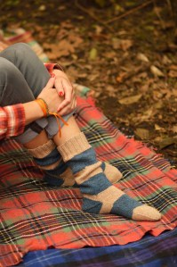 Camp and Trail Socks photographed for Pom Pom Quarterly, Summer 2013