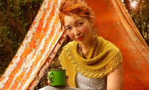 Mountain Moss Shawl photographed for Pom Pom Quarterly, summer 2013
