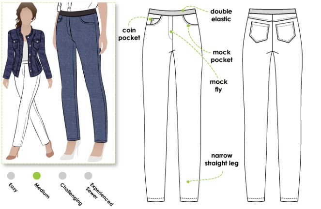 Style Arc Misty pull-on Jean