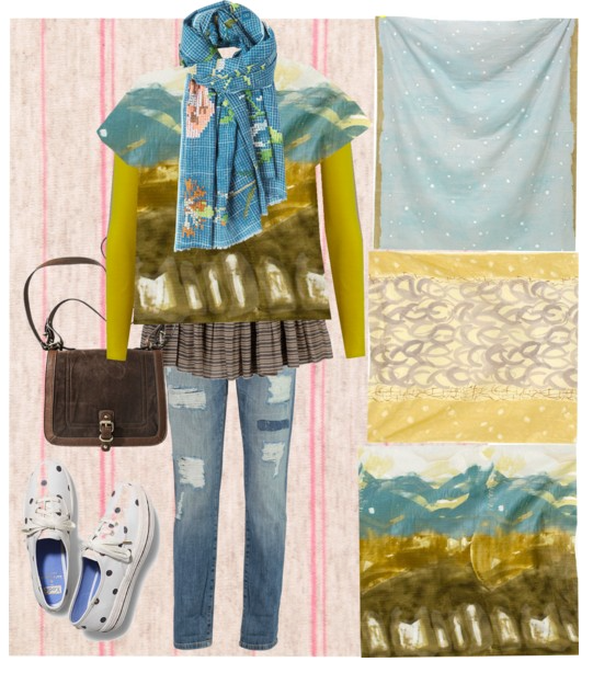 Spring mood board with nano Iro fabrics