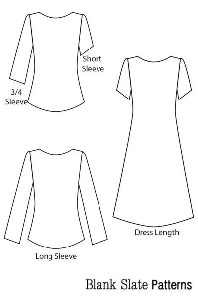 Blank Slate Patterns Shoreline Boatneck dress