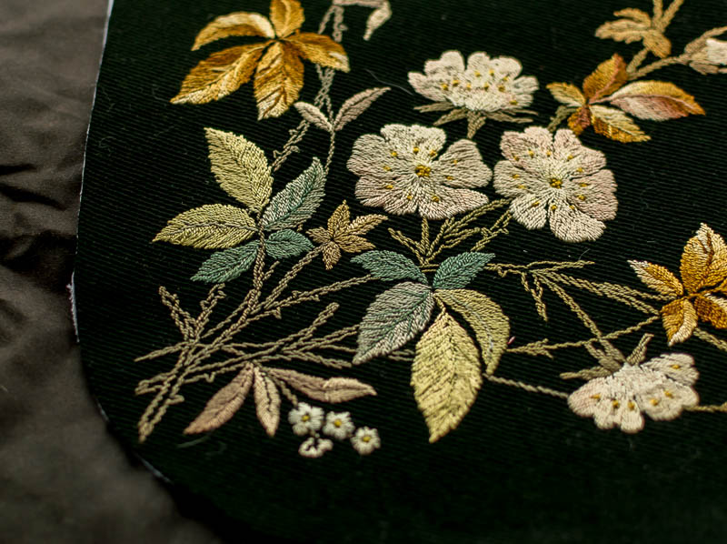 antique embroidered bag