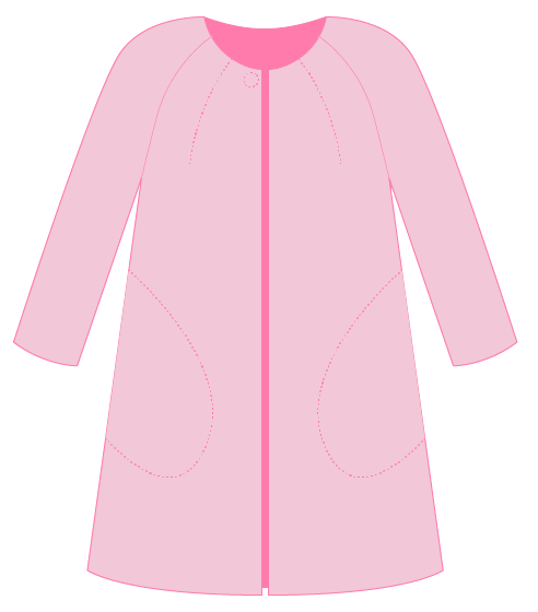 Pilvi coat with bust dart