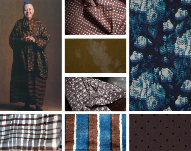 brown and blue fabric mood at jujuvail.com