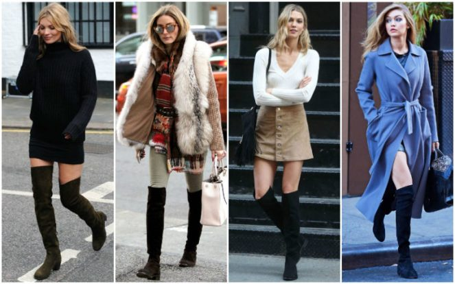wearing over the knee boots