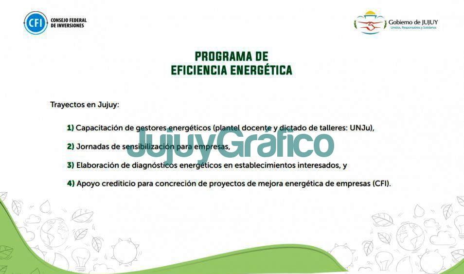 trayecto del programa eficiencia energetica la provincia jujuy